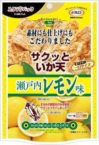 スタンドパック サクッといか天瀬戸内レモン味(内容量:48g)