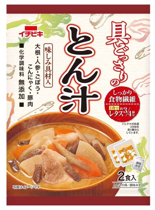 具どっさりのおみそ汁 とん汁 (2食入) 新発売