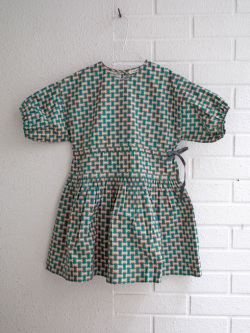 CARAMEL キャラメル caramel baby&child  Cyclamen Dress, Emerald Geo プリントワンピース
