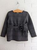 イタリア子供服 DOUUOD リボン付きカシュクールジャケット