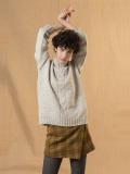 パリジェンヌに人気のフレンチカジュアルブランド soeur チェック巻きスカート