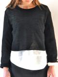 le vestiaire de jeanne Uniform short pullover, dark grey knit ニットプルオーバー