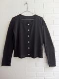 LE VESTIAIRE DE JEANNE LE VESTIAIRE DE CLE VDJ, Uniform cardigan, black knit
