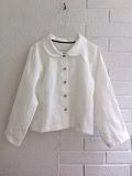 LE VESTIAIRE DE JEANNE LE VESTIAIRE DE CLE VDJ,Uniform long sleeves shirt, white linen