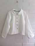 LE VESTIAIRE DE JEANNE LE VESTIAIRE DE CLE VDJ,Uniform long sleeves shirt, white linen