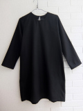LE VESTIAIRE DE JEANNE LE VESTIAIRE DE CLE VDJ, Flared dress, long sleeves, black wool blend