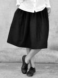 LE VESTIAIRE DE JEANNE LE VESTIAIRE DE CLE VDJ, Skirt, black woolblend