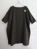 ベルギー婦人服 bellerose woman チェック柄ワイドシルエットワンピース