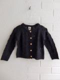 フランス子供服 BONTON 透かし編みモヘア混カーディガン