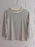 イタリア子供服 DOUUOD 秋冬コレクション ボーイズボーダー長袖Tシャツ