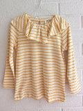 イタリア子供服 DOUUOD 秋冬コレクション ジャージーワイドラッフルカラーTシャツ