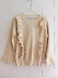 イタリア子供服 DOUUOD 秋冬コレクション ラッフルフリルシャイニーセーター