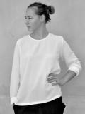 LE VESTIAIRE DE JEANNE LE VESTIAIRE DE CLE VDJ Robe manteau Long sleeves blouse white silk シルクブラウス