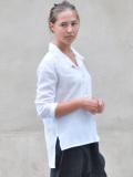LE VESTIAIRE DE JEANNE LE VESTIAIRE DE CLE VDJ Robe manteau Unisex shirt white silk シルクシャツ