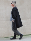 le vestiaire de jeanne Collection dress-coat black denim デニムコートワンピース