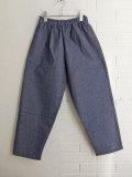 E VESTIAIRE DE JEANNE LE VESTIAIRE DE CLE VDJ Classic trousers blue denim デニムパンタロン デニムロングパンツ
