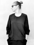 LE VESTIAIRE DE JEANNE LE VESTIAIRE DE CLE VDJ Long sleeves blouse black silk ブラックブラウス