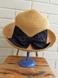 イタリア老舗帽子ブランド GREVI グレヴィ リボン付きストローハット
