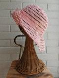 イタリア老舗帽子ブランド GREVI レディース帽子 クロシェ ストローハット