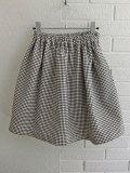 LE VESTIAIRE DE JEANNE LE VESTIAIRE DE CLE Uniform Skirt,polka dots cotton  ドットコットンギャザースカート