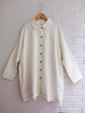 le vestiaire de jeanne Uniform coat, heavy white linen リネンコート