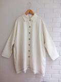 le vestiaire de jeanne Uniform coat, heavy white linen リネンコート