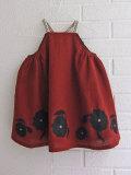 英国ブランド ロンドンブランド CARAMEL  キャラメル 刺繍ジャンパースカート