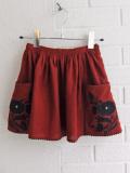 英国ブランド ロンドンブランド CARAMEL  キャラメル 刺繍スカート
