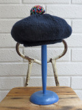 イタリア老舗帽子ブランド GREVI グレヴィ マルチポンポンニットベレー