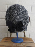 イタリア老舗帽子ブランド GREVI グレヴィ リボンニットキャップ