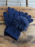 イタリア老舗帽子ブランド GREVI グレヴィ フェイクファーポンポングローブ 5本指手袋