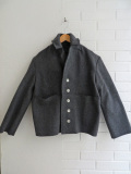 LE VESTIAIRE DE JEANNE  VDJ ウールセーラーコート Sailor coat grey wool drap, raw edges