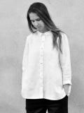 LE VESTIAIRE DE JEANNE  VDJ  pleated-shirt-white-linen プリーツシャツ