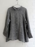 LE VESTIAIRE DE JEANNE  VDJ  pleated-shirt-black-linen プリーツシャツ