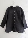 LE VESTIAIRE DE JEANNE  VDJ  pleated-shirt-grey-linen プリーツシャツ