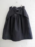 LE VESTIAIRE DE JEANNE  VDJ プリーツスカート Pleated skirt black denim