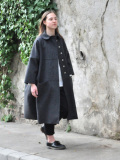 LE VESTIAIRE DE JEANNE  VDJ ウールコート Claudine coat grey wool drap, raw edges