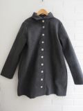 LE VESTIAIRE DE JEANNE  VDJ  coat-grey-wool-drap-raw-edges ウールコート