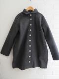 LE VESTIAIRE DE JEANNE  VDJ  coat-grey-wool-drap-raw-edges ウールコート