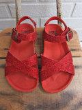 フランス子供服 BONTON ボントン German glittery sandals グリッタークロスサンダル