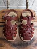 フランス子供服 BONTON ボントン Mika sandals 編み込みレザーサンダル
