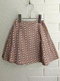 英国ブランド ロンドンブランド CARAMEL  キャラメル  Jupia Skirt, Kaleido Blue プリントラップスカート