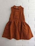 英国ブランド ロンドンブランド CARAMEL  キャラメル  Balbina Dress, Camel ノースリーブリネンワンピース