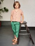 英国ブランド ロンドンブランド CARAMEL  キャラメル Balta Trouser, Mid Green コットンロングパンツ