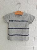 イタリア子供服 OLIVE オリーブ スパンコールボーダーTシャツ