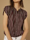 パリジェンヌに人気のフレンチカジュアルブランド soeur  スール プリントノースリーブブラウス