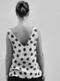 Le vestiaire de jeanne VDJ  v back blouse polka dot linen リネンドットVカットブラウス