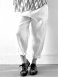 LE VESTIAIRE DE JEANNE LE VESTIAIRE DE CLE VDJ Classic trousers 厚地リネンロングパンツ