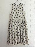 LE VESTIAIRE DE JEANNE LE VESTIAIRE DE CLE VDJ Pleated dress, sleeveless ノースリーブギャザーワンピース