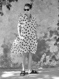 LE VESTIAIRE DE JEANNE LE VESTIAIRE DE CLE VDJ Shirt-dress リネンドットシャツワンピース